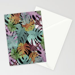 Monstera Night Glory Stationery Cards