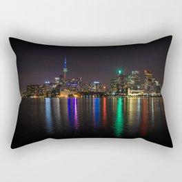 Toronto Skyline at Night Rectangular Pillow