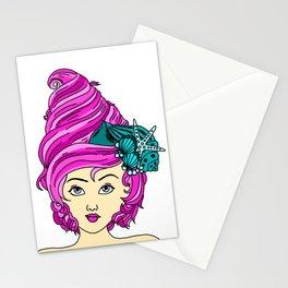 Mermaid Hair III Stationery Cards