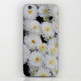 White Mums iPhone Skin