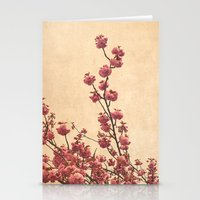 cherry blossoms Stationery Cards featuring cherry blossoms by Iris Lehnhardt
