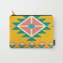 Yellow Native Aztec Carry-All Pouch