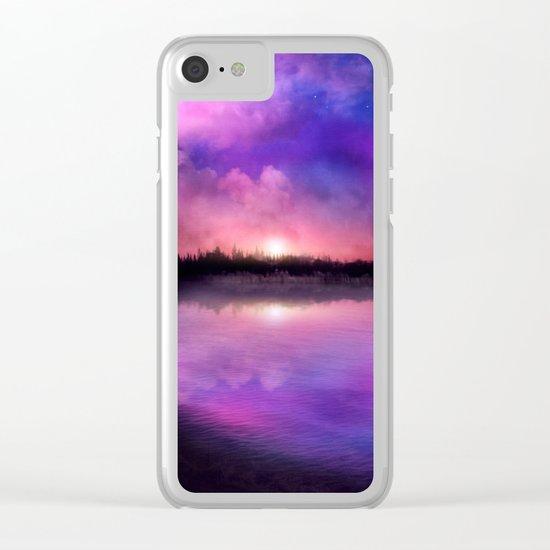 Sunset magic Clear iPhone Case