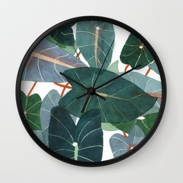 Caladiums Wall Clock