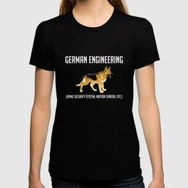German Shepherd Engineering: Home Security System T-shirt