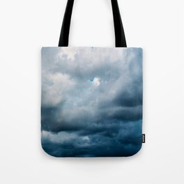 Rain Storm Clouds Gathering On Sky, Stormy Sky, Infinity Tote Bag