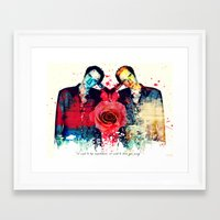 quentin tarantino Framed Art Prints featuring Tarantino (Quentin Tarantino) by Art By MOP$