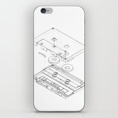 Exploded Cassette Tape  iPhone & iPod Skin