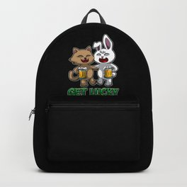 Get Lucky - Drink Beer With Your Buddy Backpack