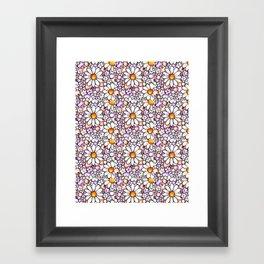 Large Blush Daisies Tiled Framed Art Print