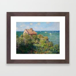 Claude Monet - Fisherman's Cottage on the Cliffs at Varengeville Framed Art Print