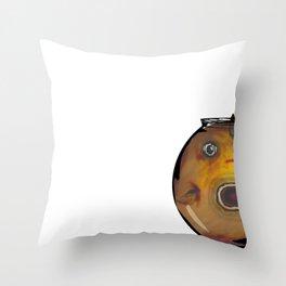 Fat Fish, Little Bowl Throw Pillow