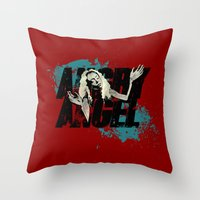orphan black Throw Pillows featuring Orphan Black - Angry Angel by Child of the Tardis