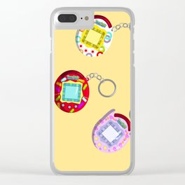 Tamagotchi Connection 2004-Yellow Clear iPhone Case