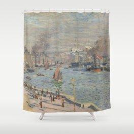 Claude Monet - Port of Le Havre Shower Curtain