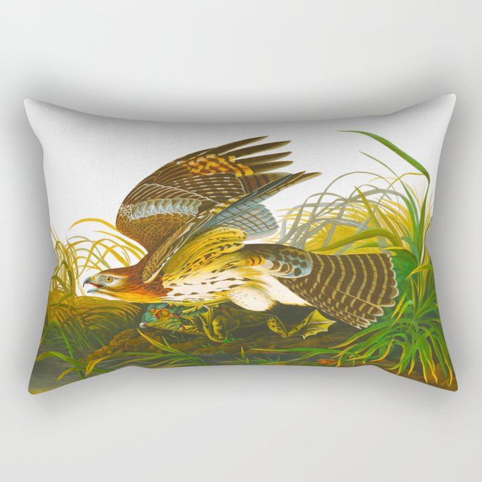 Winter Hawk Rectangular Pillow