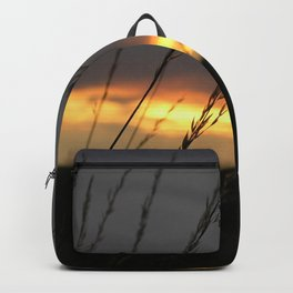 Sunset with grass Backpack
