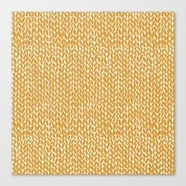 Hand Knit Orange Canvas Print