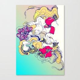 sad poppy Canvas Print