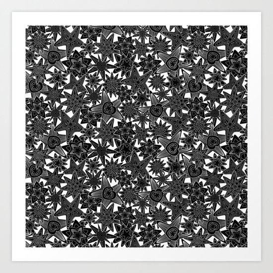 My dreams. in black Art Print