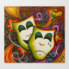 Masks (Theatre) Canvas Print