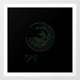 Spectrographic Portrait of the King of Limbs #2 Art Print
