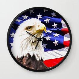 Bald Eagle Wall Clock