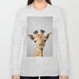Baby Giraffe - Colorful Long Sleeve T-shirt