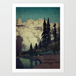 The Pending Storm at Hike Art Print