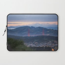Golden Gate Bridge from Twin Peaks at Sunset Laptop Sleeve