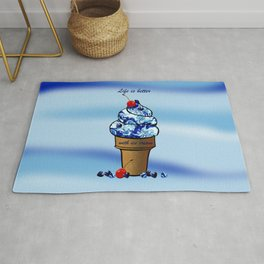 Life is better with ice cream2 Rug