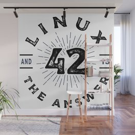 Linux - 42 and Linux is the Answer Wall Mural