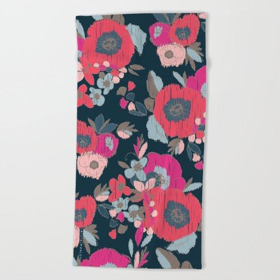 Janis Flower Beach Towel