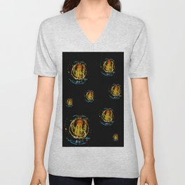The Electric Current:  Filament Lights Unisex V-Neck