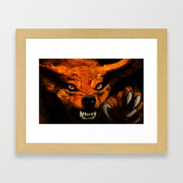 Nine-Tailed Beast from Naruto Framed Art Print