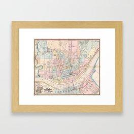 Vintage Map of Cincinnati OH (1868) Framed Art Print