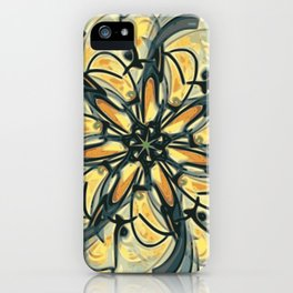 Swirly Flower Abstract 06 iPhone Case