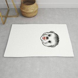 Hedgehog Dad Funny Hedgehog Humor Rug