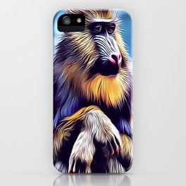 Mandrill Baboon iPhone Case