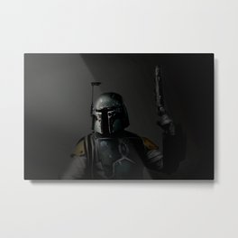 Boba Fett 'Bounty Hunter' | Artist: Nick Clements Metal Print