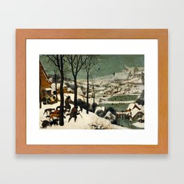 Hunters in the Snow (Winter) Framed Art Print