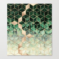 Leaves And Cubes Canvas Print