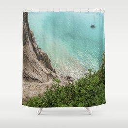 Heights | Blue Ocean | Sea | Beach | Shore | Waves | Summer | Travel | Boat Shower Curtain