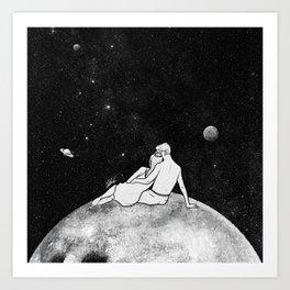 The greatest moon. Art Print