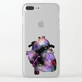 Galaxy Heart Clear iPhone Case