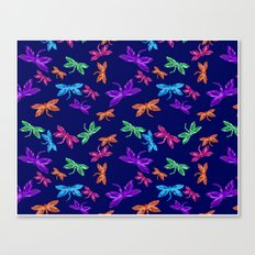 Dragon fly pattern Canvas Print