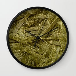 Golden fibers Wall Clock