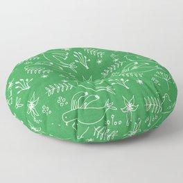 Christmas Dove Green Floor Pillow