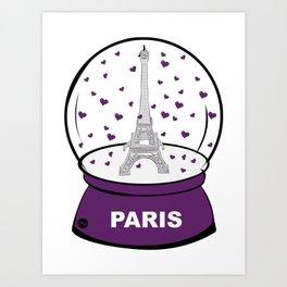 Paris Boule à cœurs Art Print