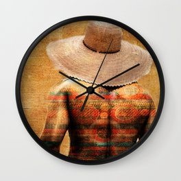 The colorful man Wall Clock
